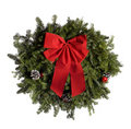 Christmas wreath isolated on white. Royalty Free Stock Photo