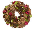 Christmas wreath made from pine cones Stock Photography