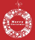 Christmas wreath with a pattern. Merry Christmas. Christmas symbol