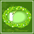 Christmas wreath with a picture of an angel Royalty Free Stock Image