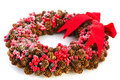 Christmas wreath from pine apples Royalty Free Stock Photography