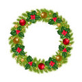 Christmas Wreath. Vector Royalty Free Stock Image