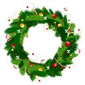Christmas wreath for your design Stock Photos