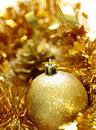 Christmas yellow ball Stock Photo