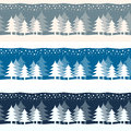 Christmas Yuletide Winter Trees Banners