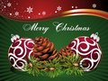 Christmasbackground with pinecone and balls Stock Image