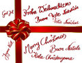 Christmascard multilingue Images stock
