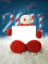 Christmassnowman 2011 Stock Photography