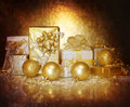Christmastime gift boxes Royalty Free Stock Photo