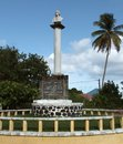 Christopher columbus memorial in guadeloupe Royalty Free Stock Image