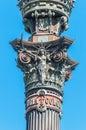 Christopher Columbus monument in Barcelona. Stock Image