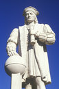 Christopher Columbus statue, Westerly, CT Royalty Free Stock Photo