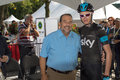 Christopher froome meeting with minister denis lebel at the team quebec canada september teams presentation ceremony of quebec s Stock Photo