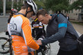 Christopher froome signing shirt on arriving in montreal for sec canada september second leg of the gpcqm a uci sanctioned pro Stock Photo