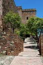 Christs Gate, Alcazaba de Malaga, Spain. Stock Photos