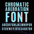 Chromatic aberration font vector with effect Royalty Free Stock Images