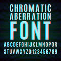 Chromatic aberration font vector with effect Stock Photos