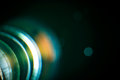 Chromatic aberration in the lens. Royalty Free Stock Photo