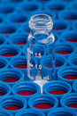 Chromatographic vial and caps Royalty Free Stock Photo