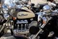 Chrome мотоцикл Стоковые Изображения RF