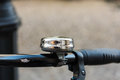 Chrome bell on an old bycicle - close up Royalty Free Stock Photo