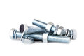 Chrome Bolts and Nuts  Royalty Free Stock Images