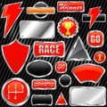 Chrome graphic elements vector Royalty Free Stock Photos