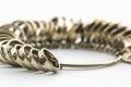 Chrome Jeweler finger sizing tools. Royalty Free Stock Photo