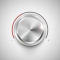Chrome knob illustration of for adjustment Royalty Free Stock Images