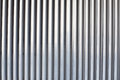 Chrome ribbed metal sheet part of Stock Photography