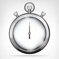 Chrome Stopwatch Isolated Obje...