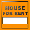 Chrome text house for rent Stock Photography