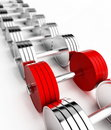 Chrome weights Royalty Free Stock Photo