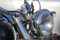 Chromed headlight Royalty Free Stock Images