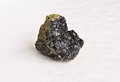 Chromite on white ural s stone Stock Photography