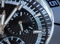 Chronograph detail selective focus shallow depth of field Royalty Free Stock Image