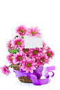 Chrysanthemums in the basket Stock Images
