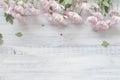 Chrysanthemums On A Rustic Woo...