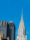 Chrysler building view of the in manhattan nyc Royalty Free Stock Photo