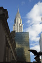 The chrysler building view of top of Stock Photography