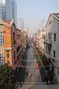 Chu river and han street is a a in wuhan which is developed as a project of the phase of wuhan central cultural Stock Image