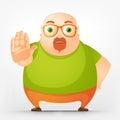 Chubby man alegre Foto de Stock Royalty Free