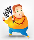 Chubby man alegre Imagem de Stock Royalty Free