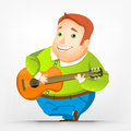 Chubby man alegre Fotografia de Stock Royalty Free