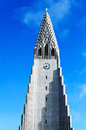 Chuch in reykjavik the main church Royalty Free Stock Photo