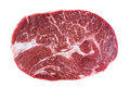 Chuck fresh raw beef steak isolated on white background. Royalty Free Stock Photo