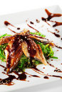 Chuka Seaweed with Unagi Salad Royalty Free Stock Image