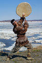 Chukchi folk dance Stock Images