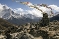 Chukpilhara Memorials - Nepal Royalty Free Stock Images