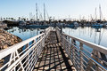Chula Vista Bayfront Park Boat Launch Ramp and Marina Royalty Free Stock Photo